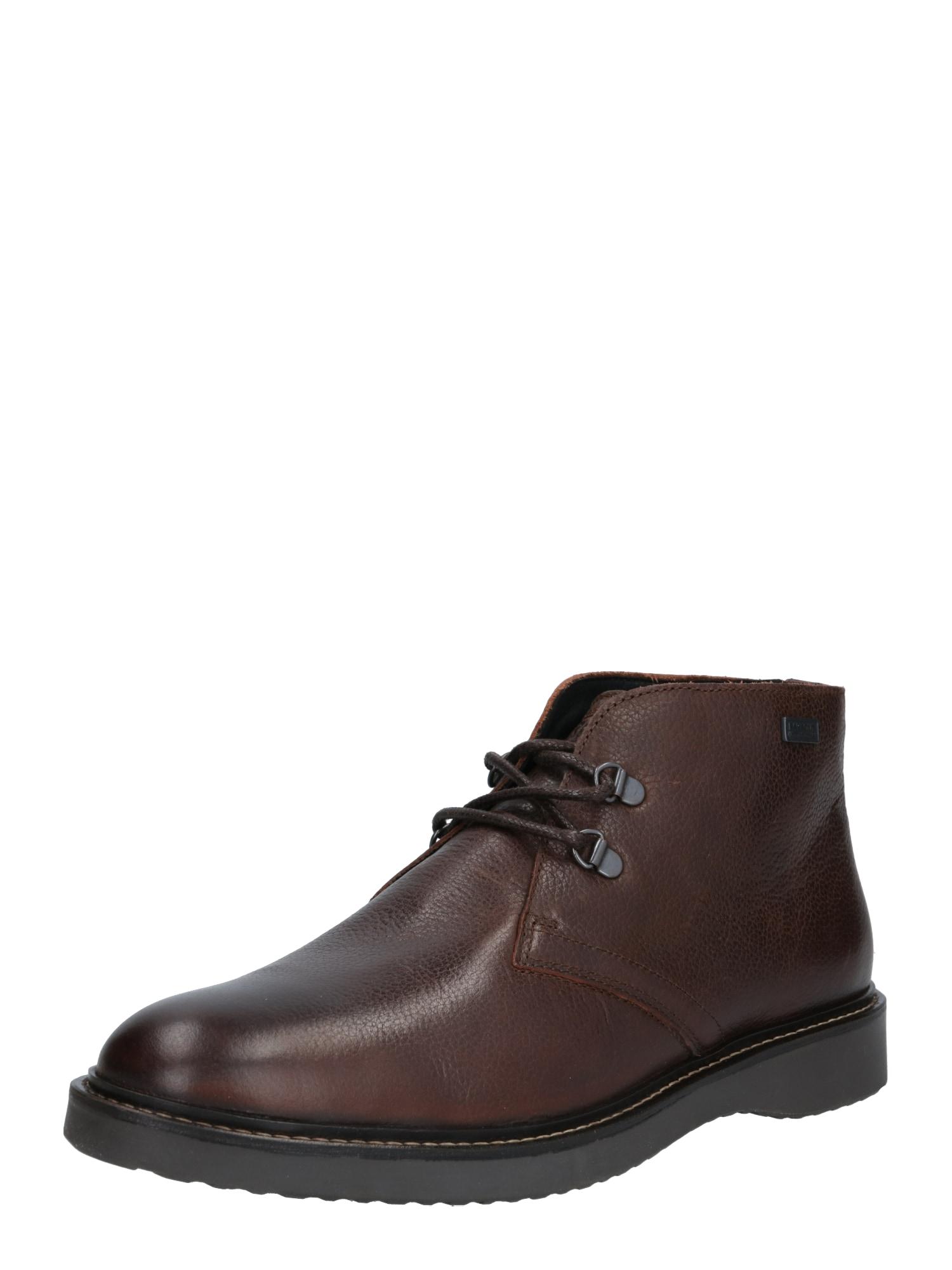 Barbour International Auliniai batai su kulniuku 'Piston' tamsiai ruda