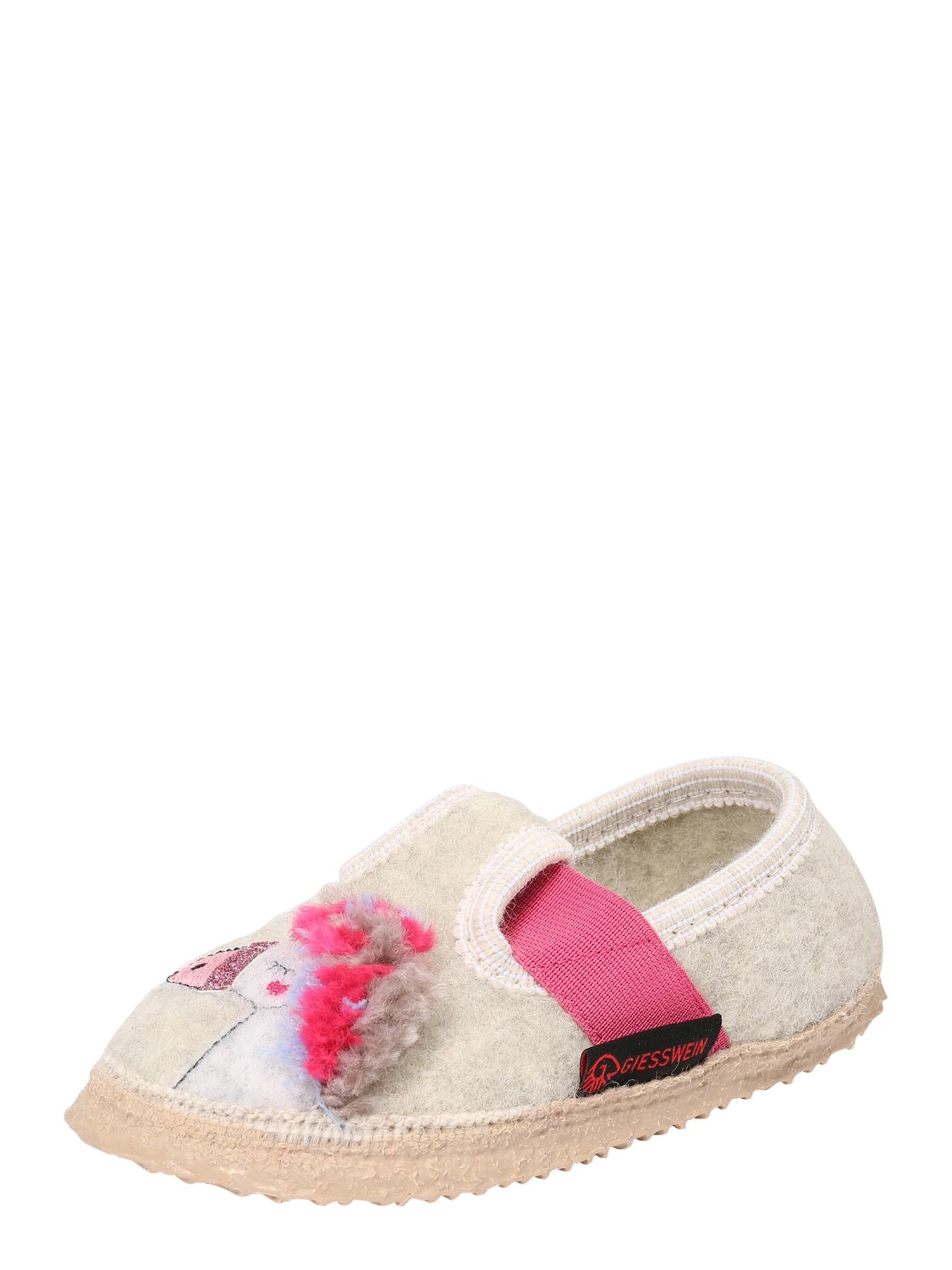 GIESSWEIN Naminės šlepetės 'Trabening' rožinė / smėlio spalva