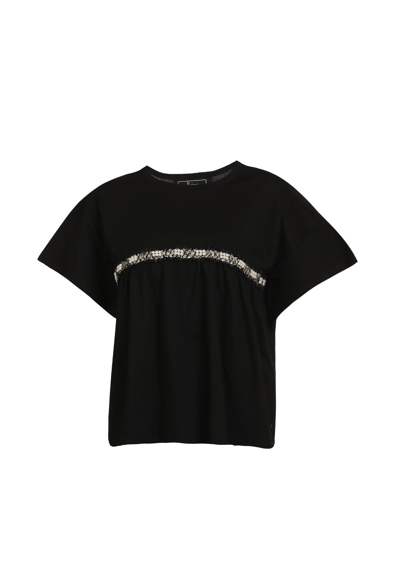 faina Marškinėliai juoda / balta