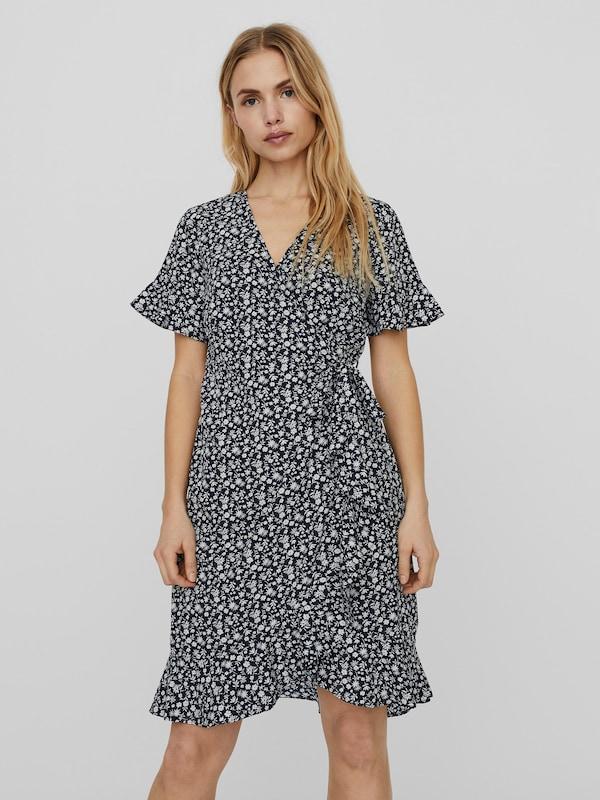 Vero Moda Henna Kurzarm-Wickelkleid mit Rüschen