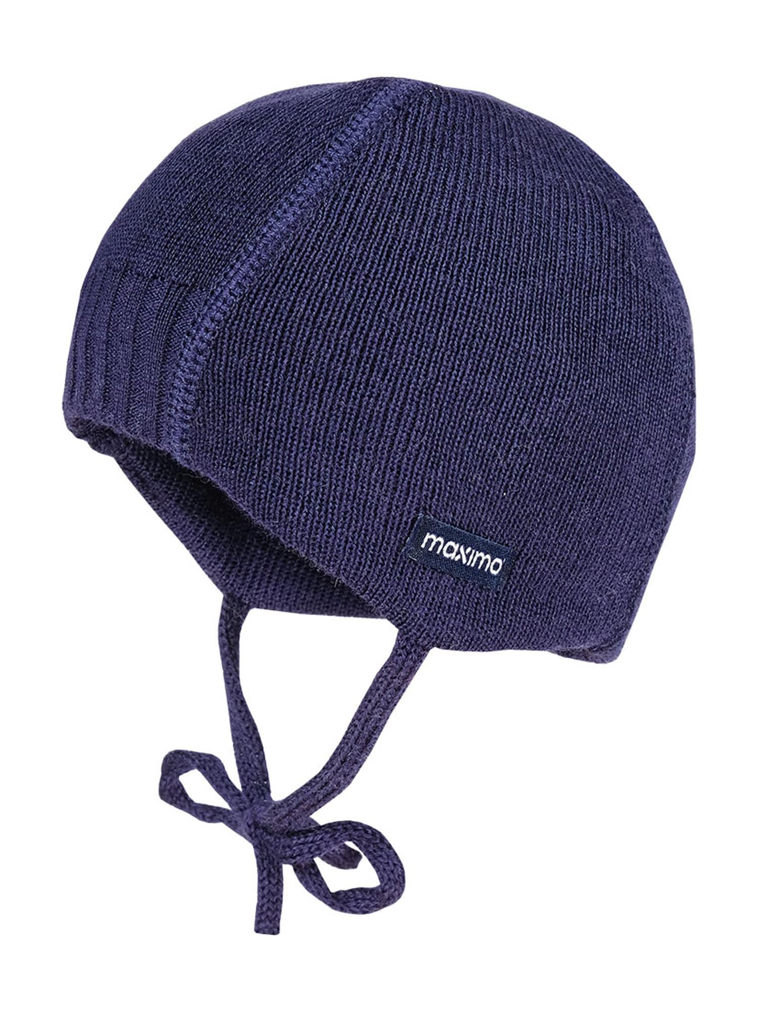 MAXIMO Megzta kepurė 'Maris' tamsiai mėlyna jūros spalva
