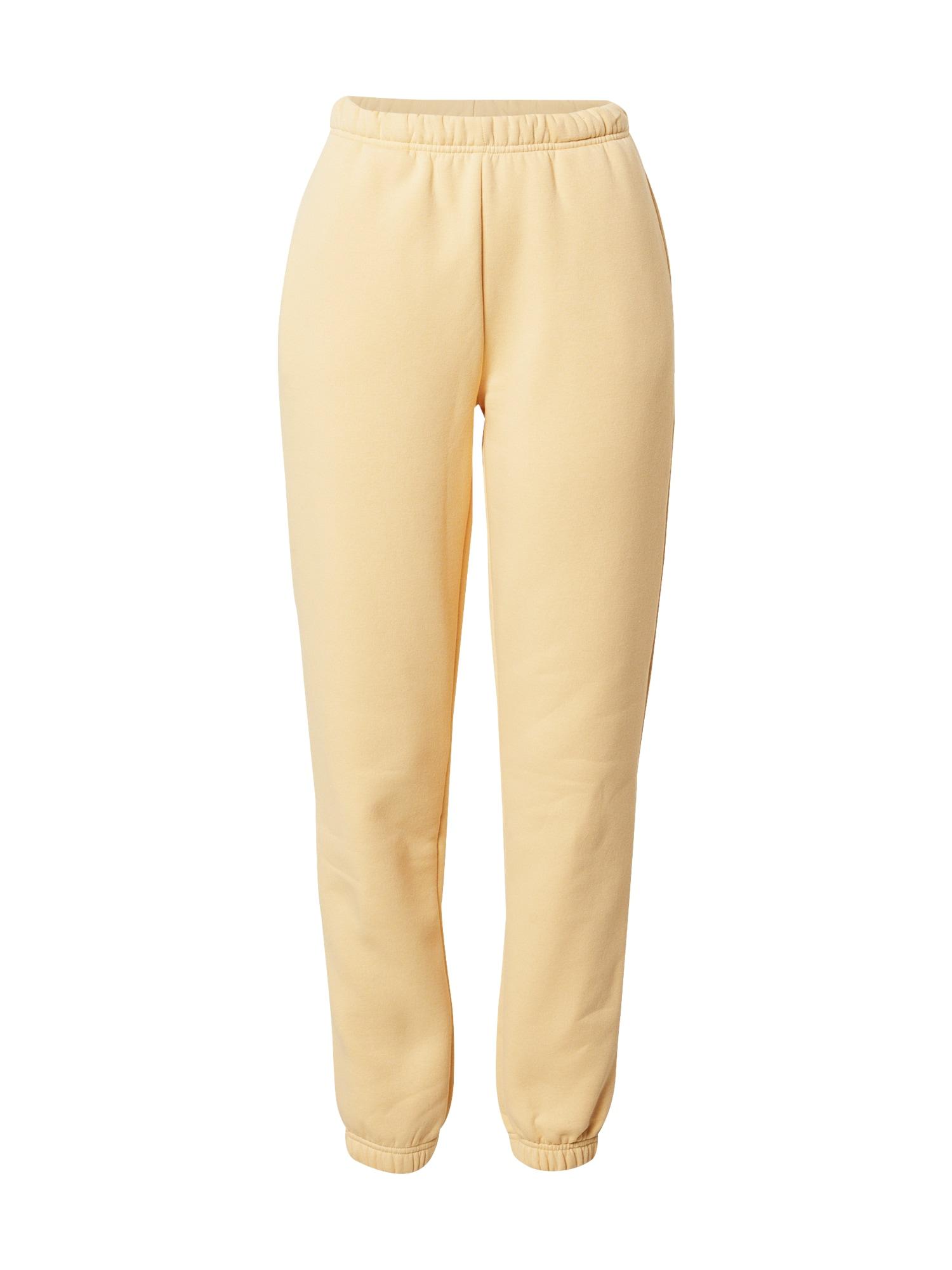 Gina Tricot Kelnės pastelinė geltona