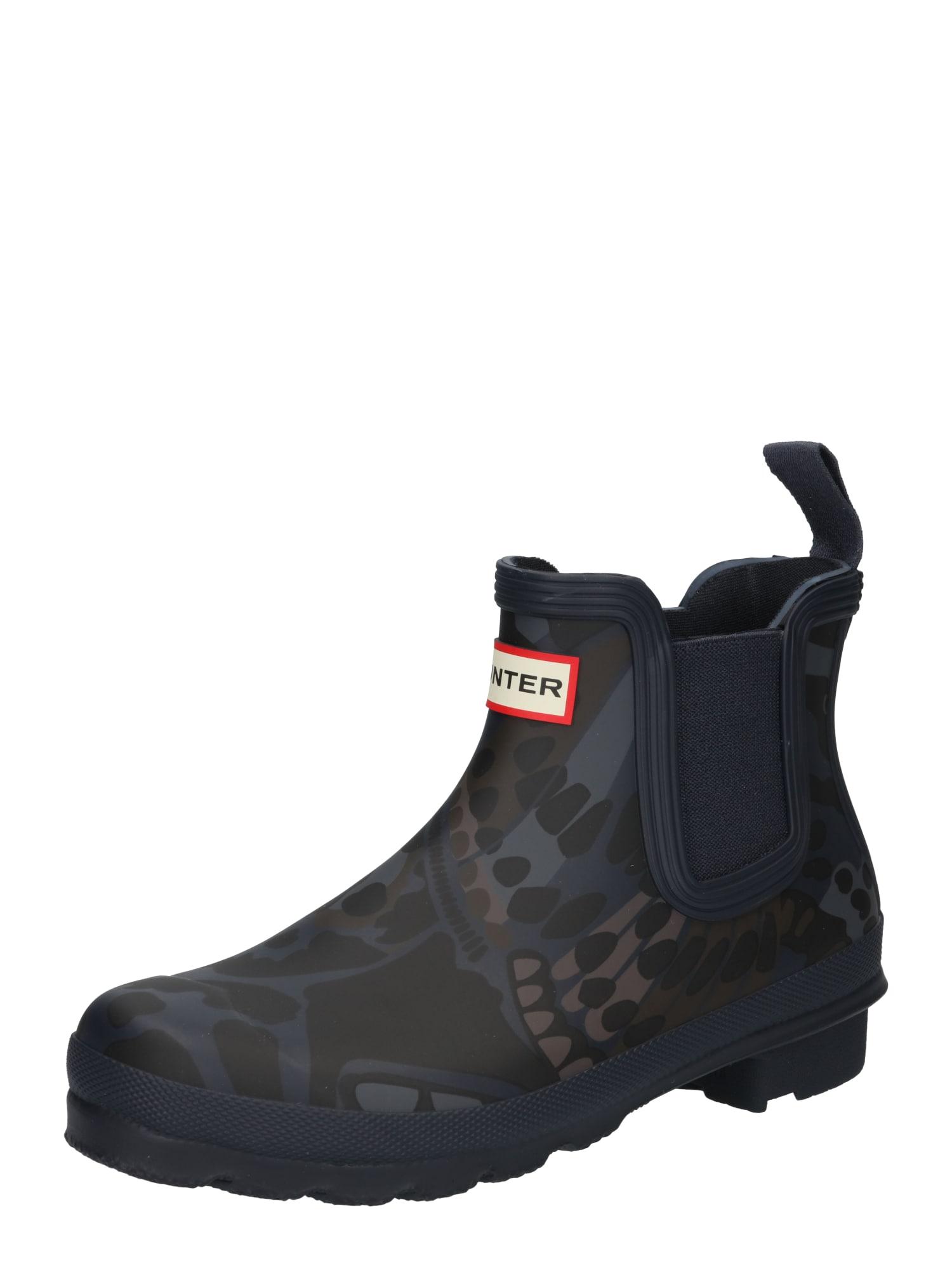 HUNTER Guminiai batai tamsiai mėlyna / nakties mėlyna / tamsiai ruda / rusvai pilka / pilka