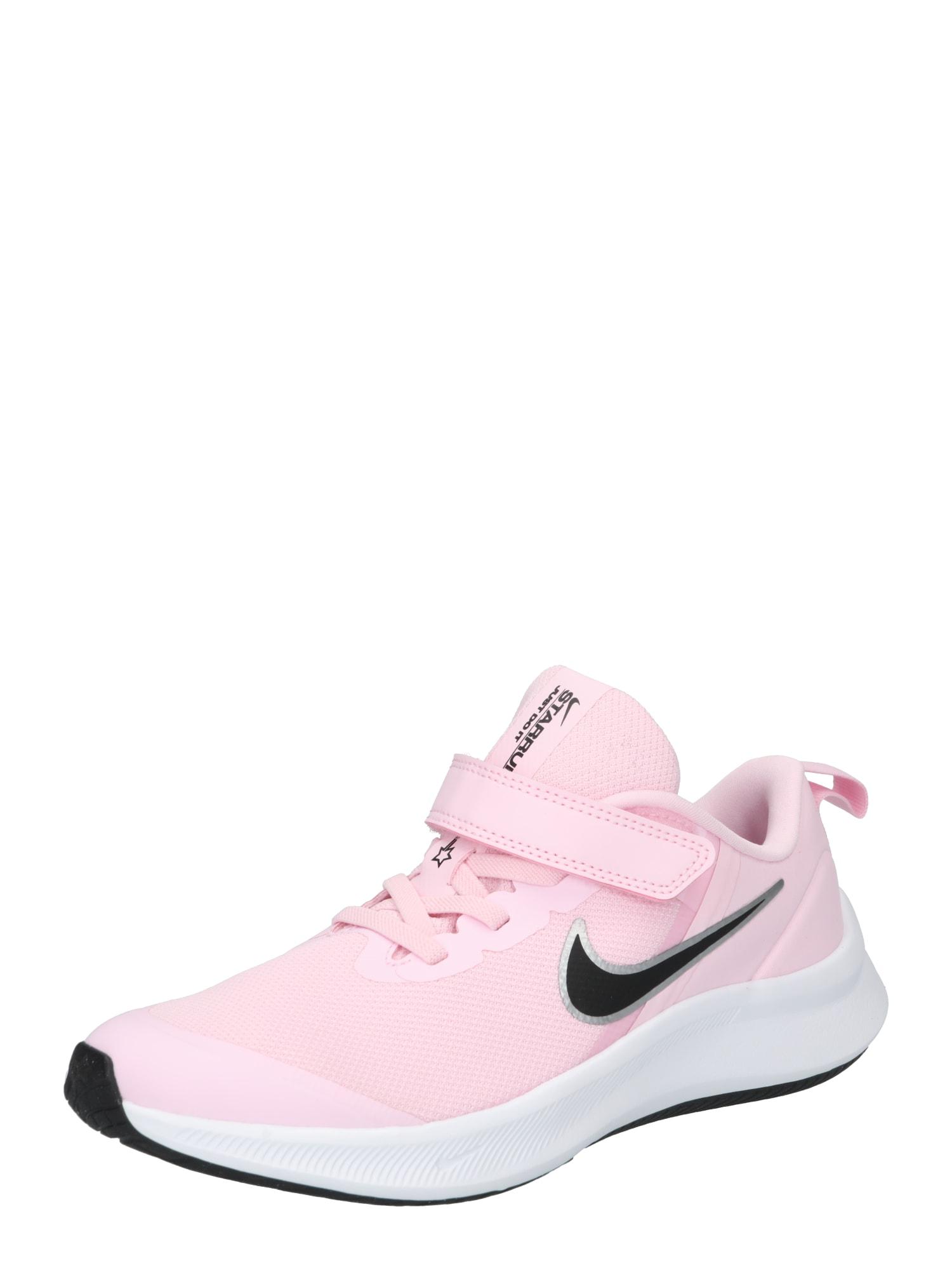 NIKE Sportiniai batai 'Star Runner 3' šviesiai rožinė / juoda