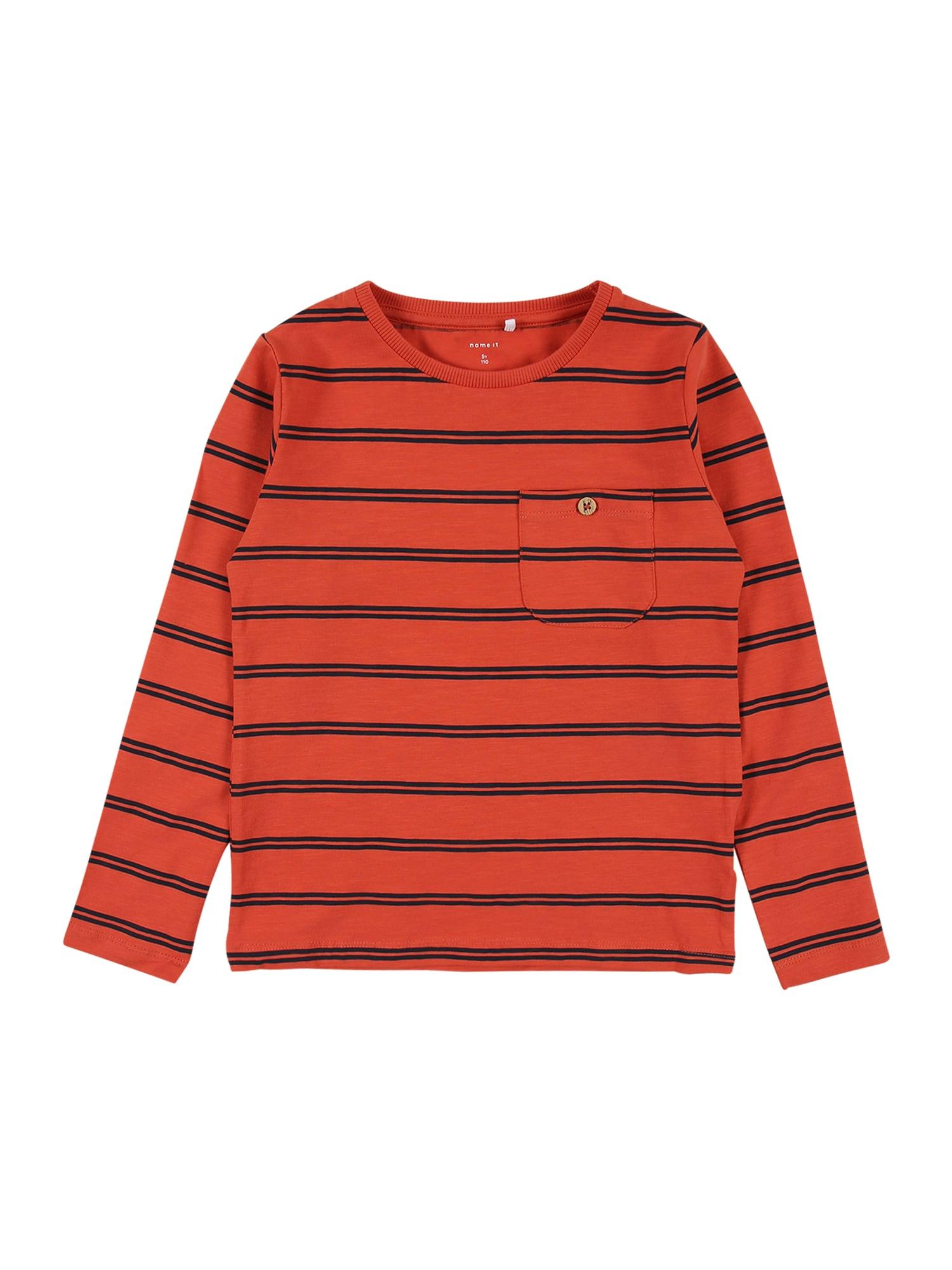 NAME IT Tričko 'SIMO'  oranžová / námořnická modř