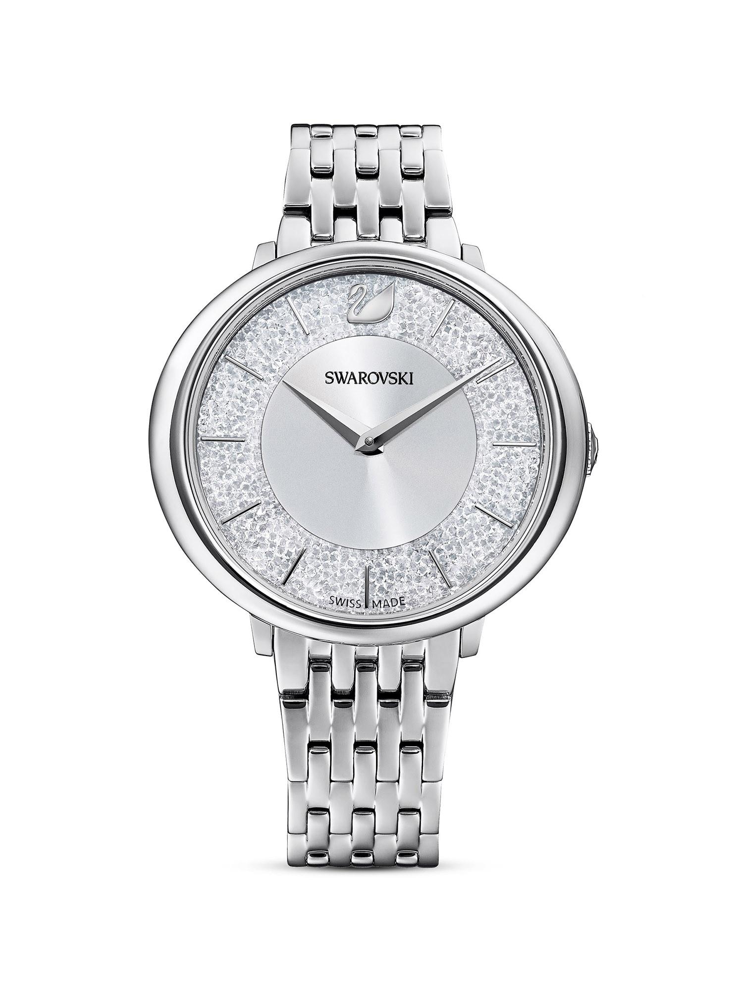 Swarovski Analoginis (įprasto dizaino) laikrodis sidabrinė