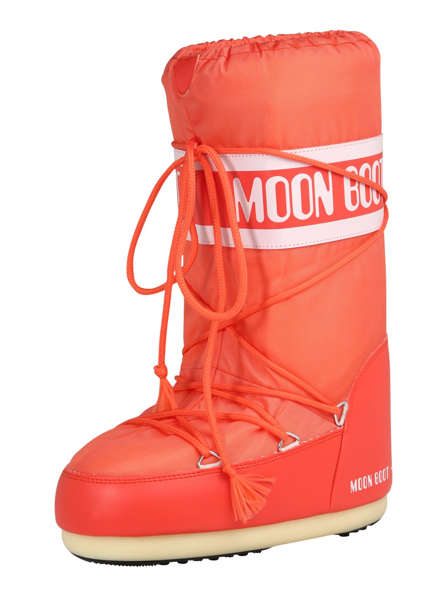 MOON BOOT Sniego batai rožinė / oranžinė