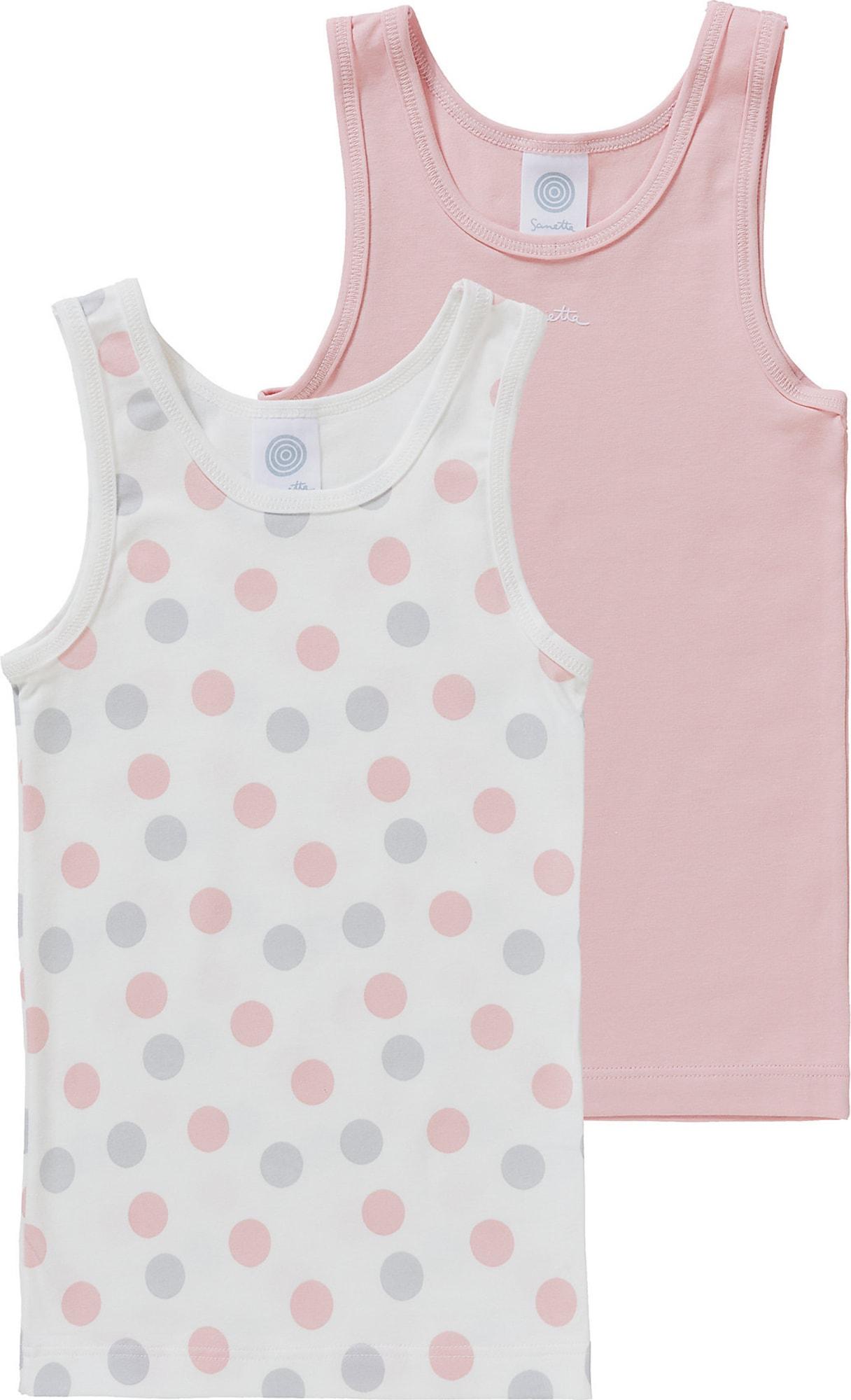 SANETTA Apatiniai marškinėliai balta / rožių spalva / opalo
