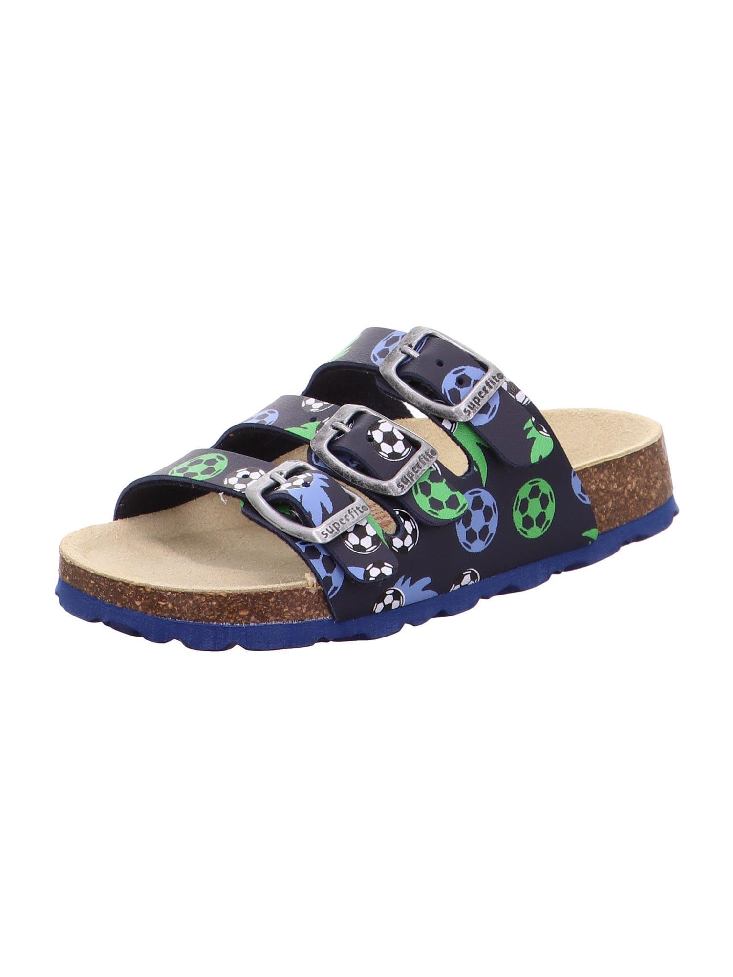 SUPERFIT Atviri batai tamsiai mėlyna / mėlyna dūmų spalva / žalia / balta / juoda