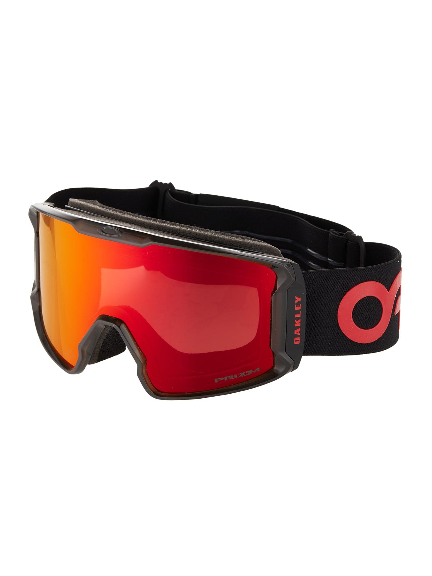 OAKLEY Sportiniai akiniai 'Line Miner' raudona / juoda
