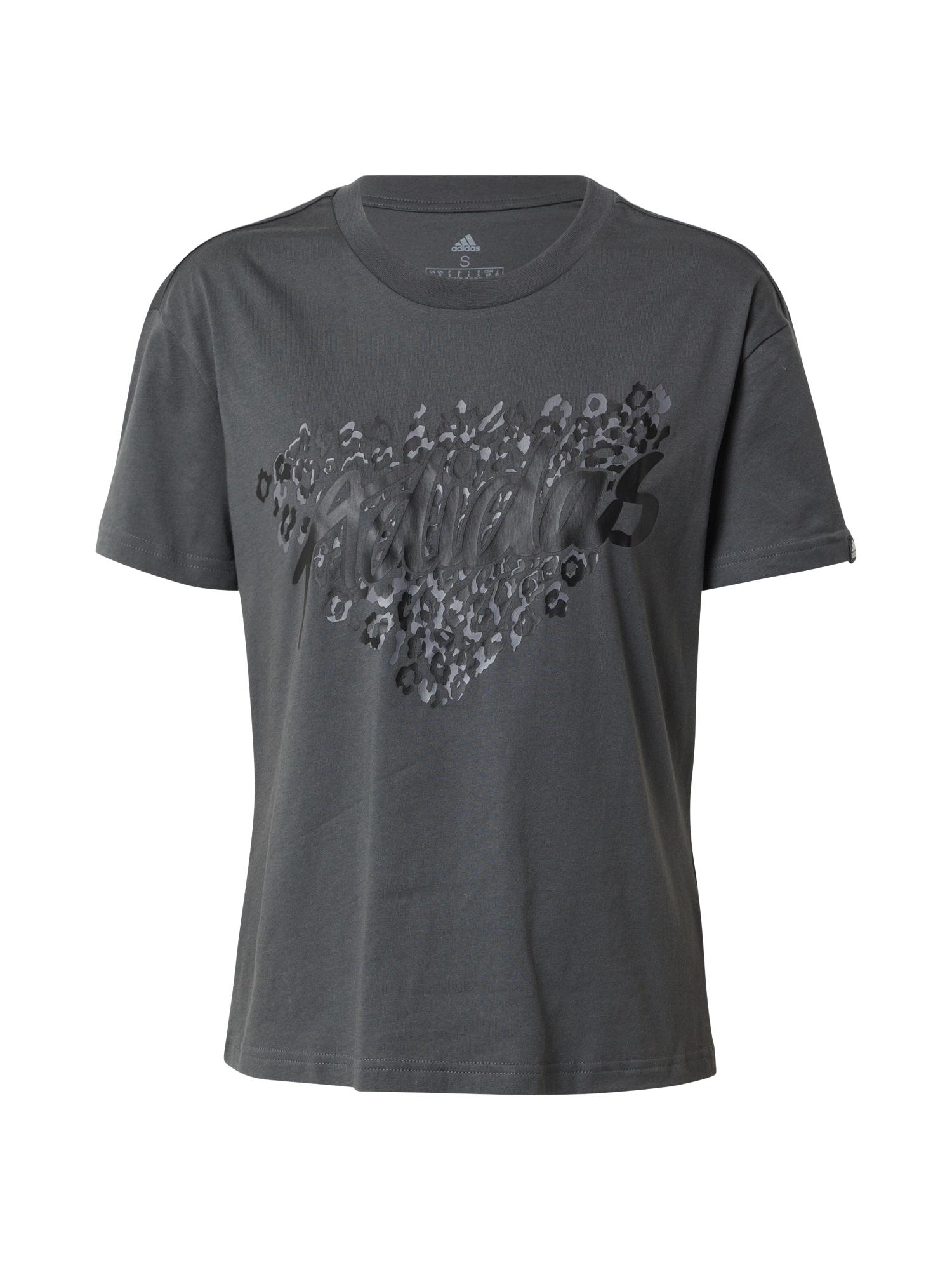 ADIDAS PERFORMANCE Sportiniai marškinėliai tamsiai pilka / antracito