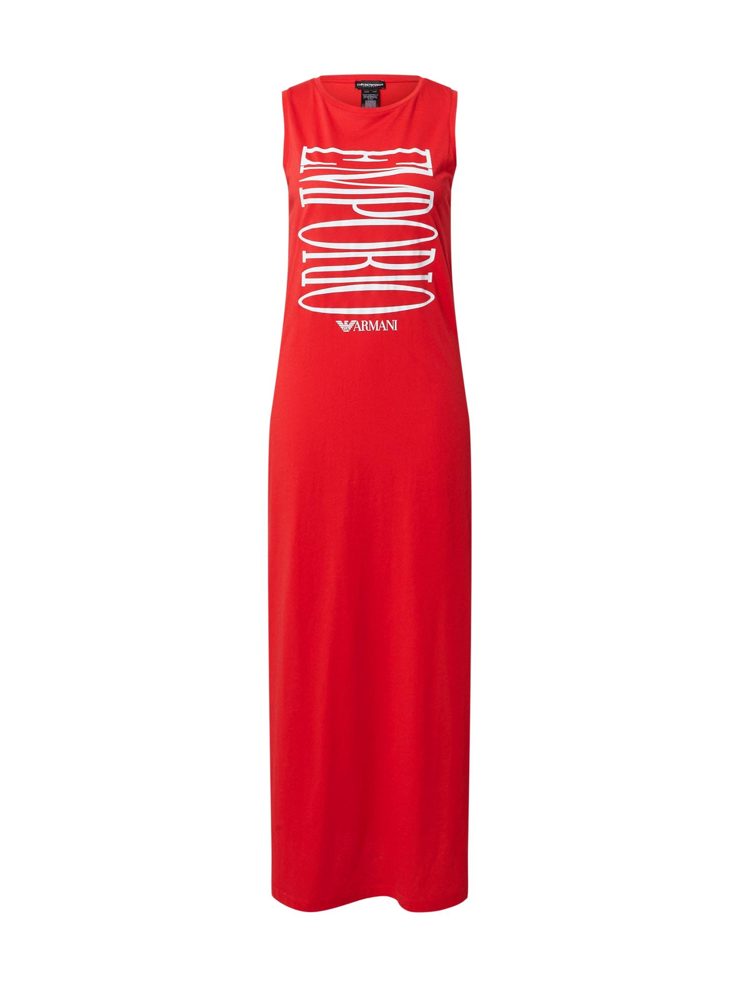 Emporio Armani Paplūdimio suknelė raudona / balta
