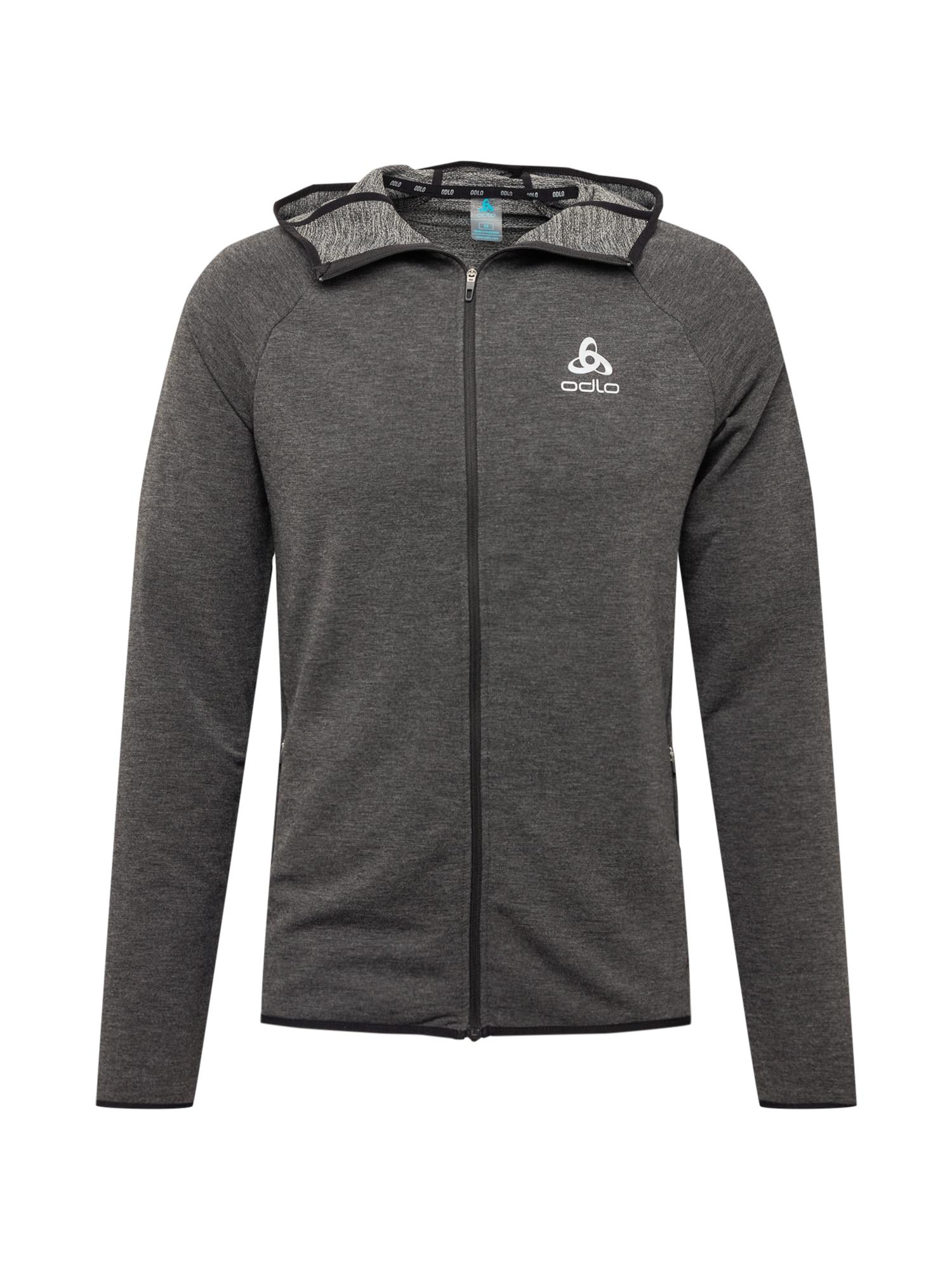 ODLO Sportinis džemperis juoda / balta