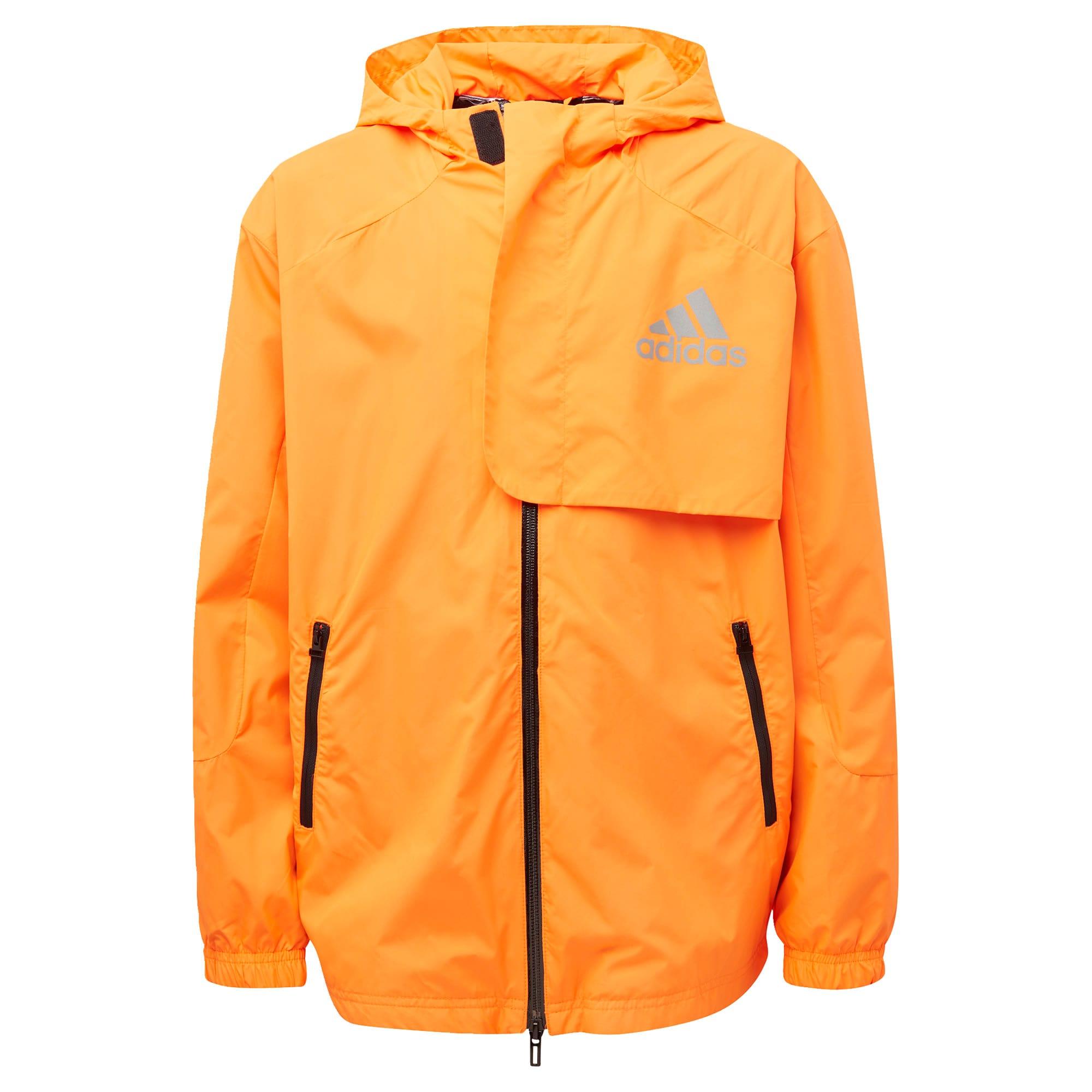 ADIDAS PERFORMANCE Laisvalaikio striukė oranžinė / juoda