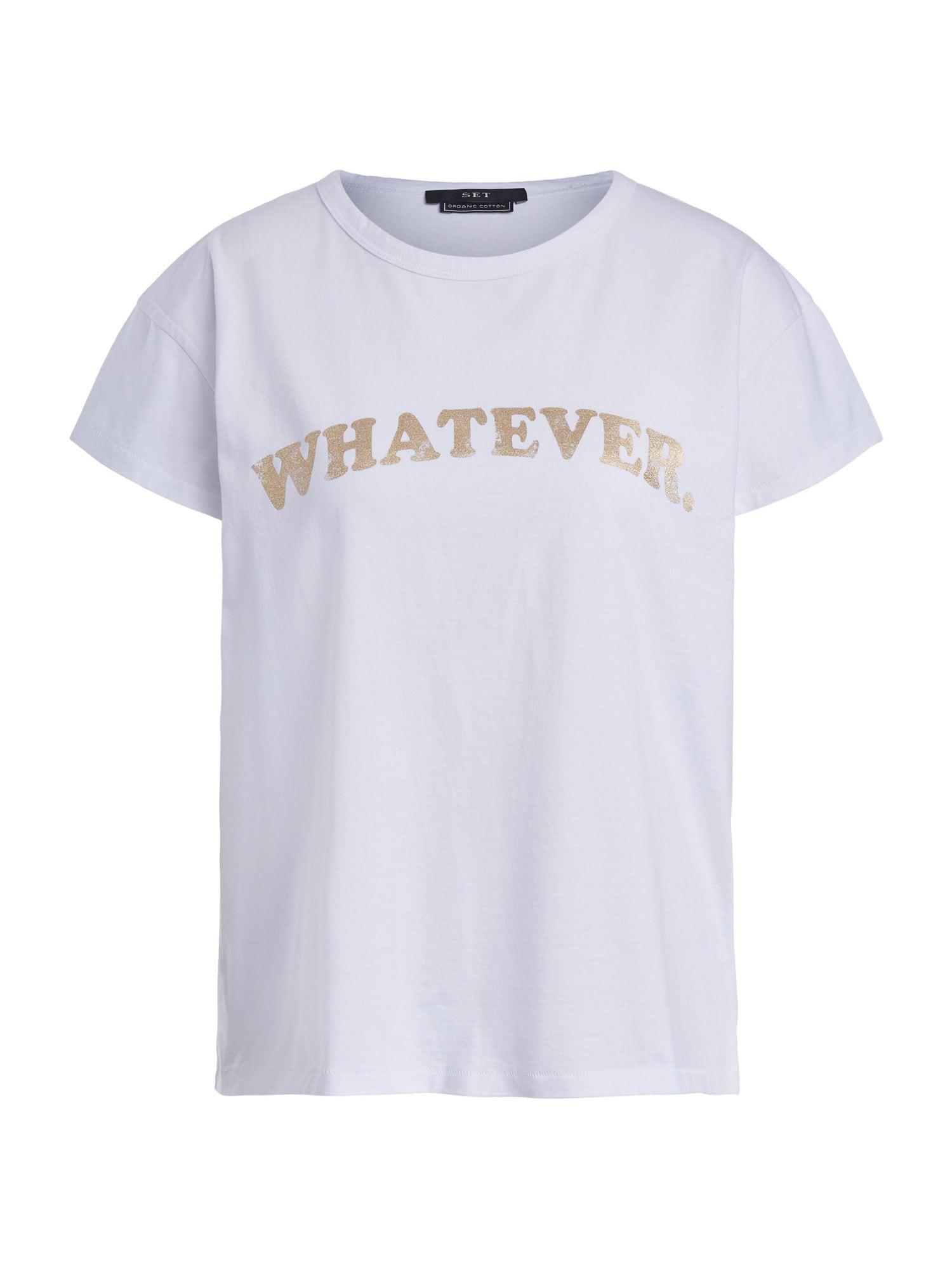 SET Marškinėliai balta / auksas