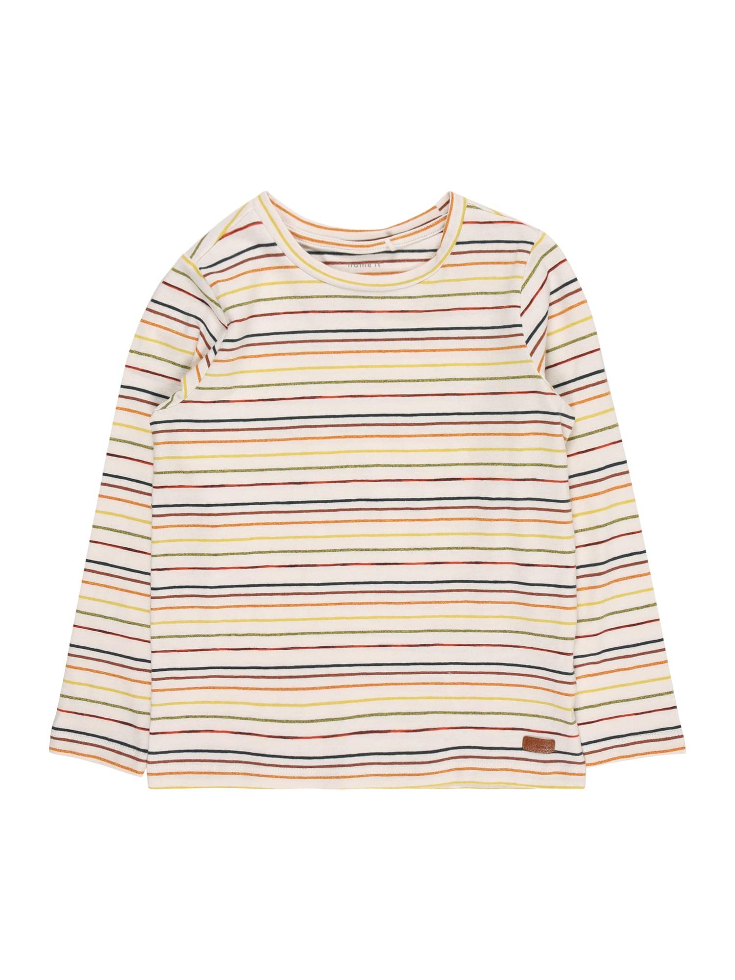 NAME IT Tričko 'SOHR'  bílý melír / mix barev