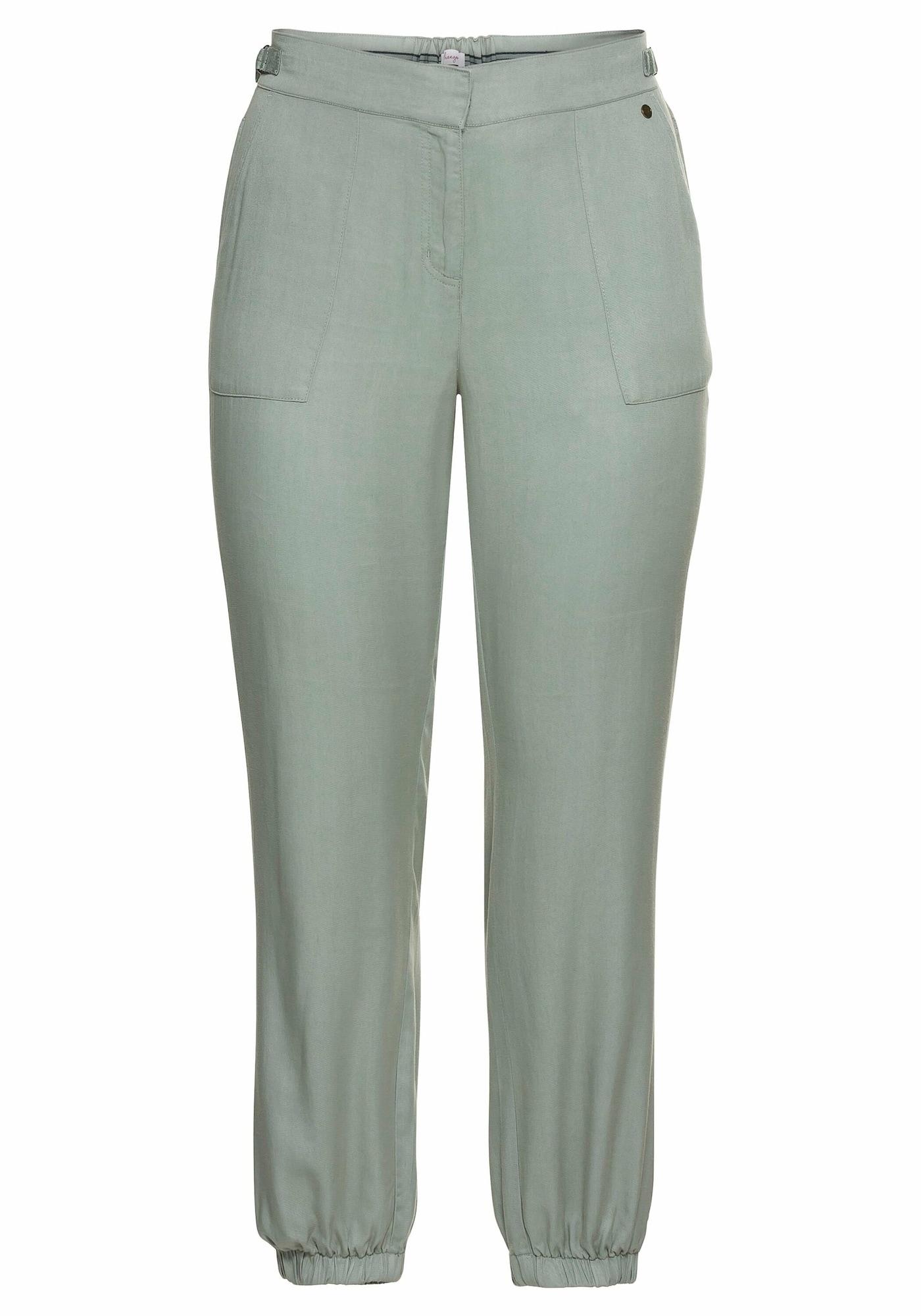 SHEEGO Kelnės pastelinė žalia