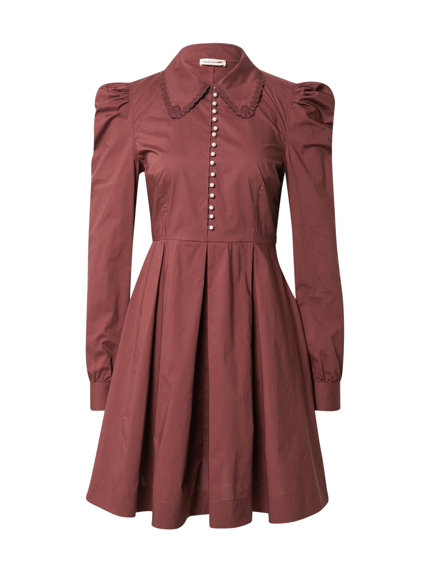 Custommade Palaidinės tipo suknelė rusvai rausva