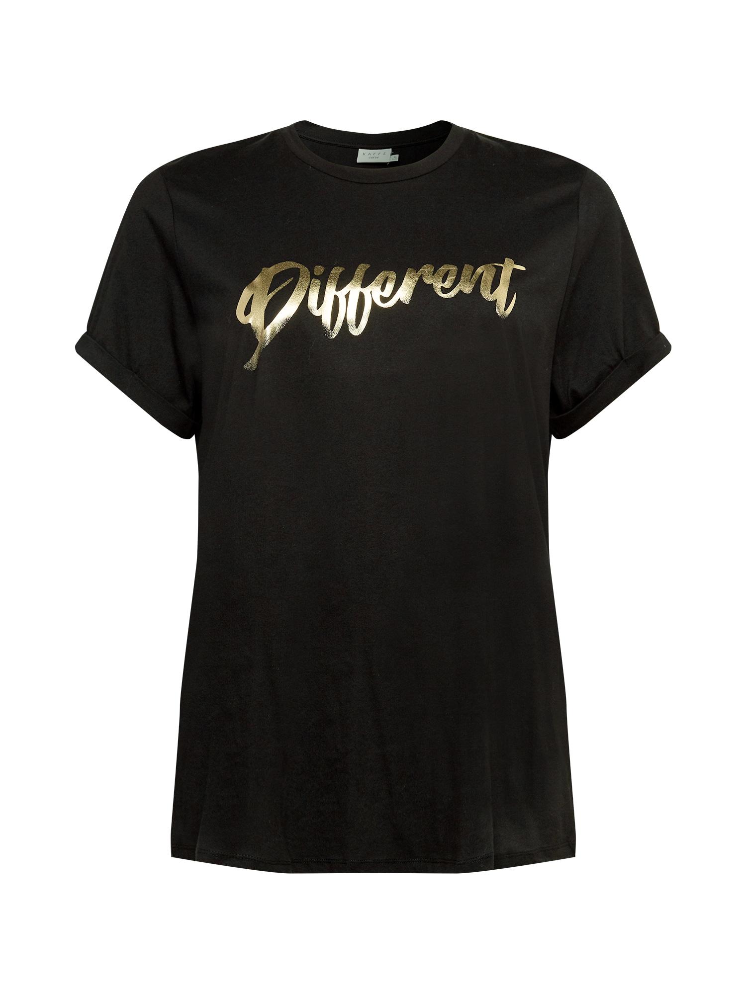 KAFFE CURVE Marškinėliai juoda