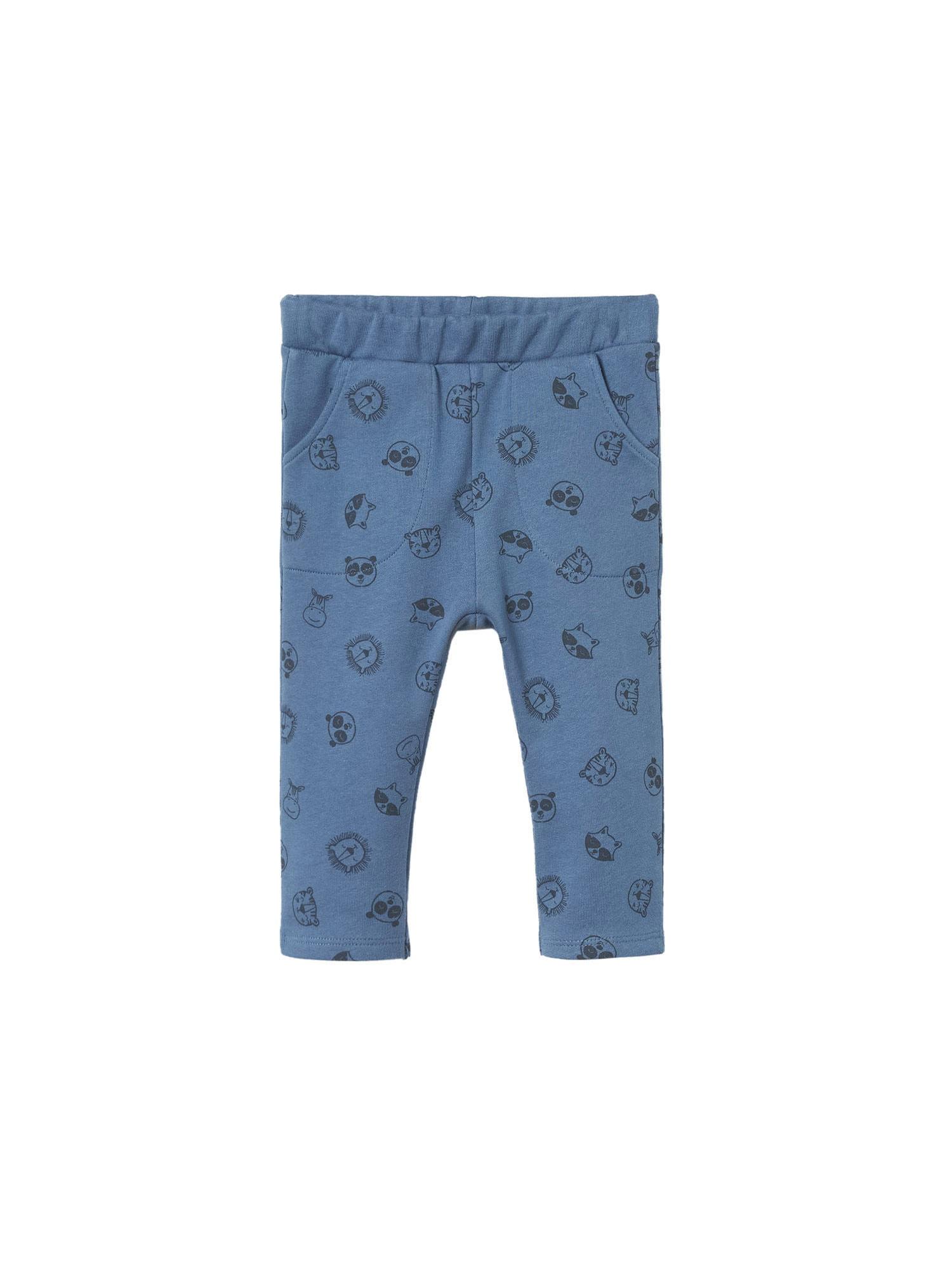MANGO KIDS Kalhoty 'HELMUT1'  kouřově modrá / černá
