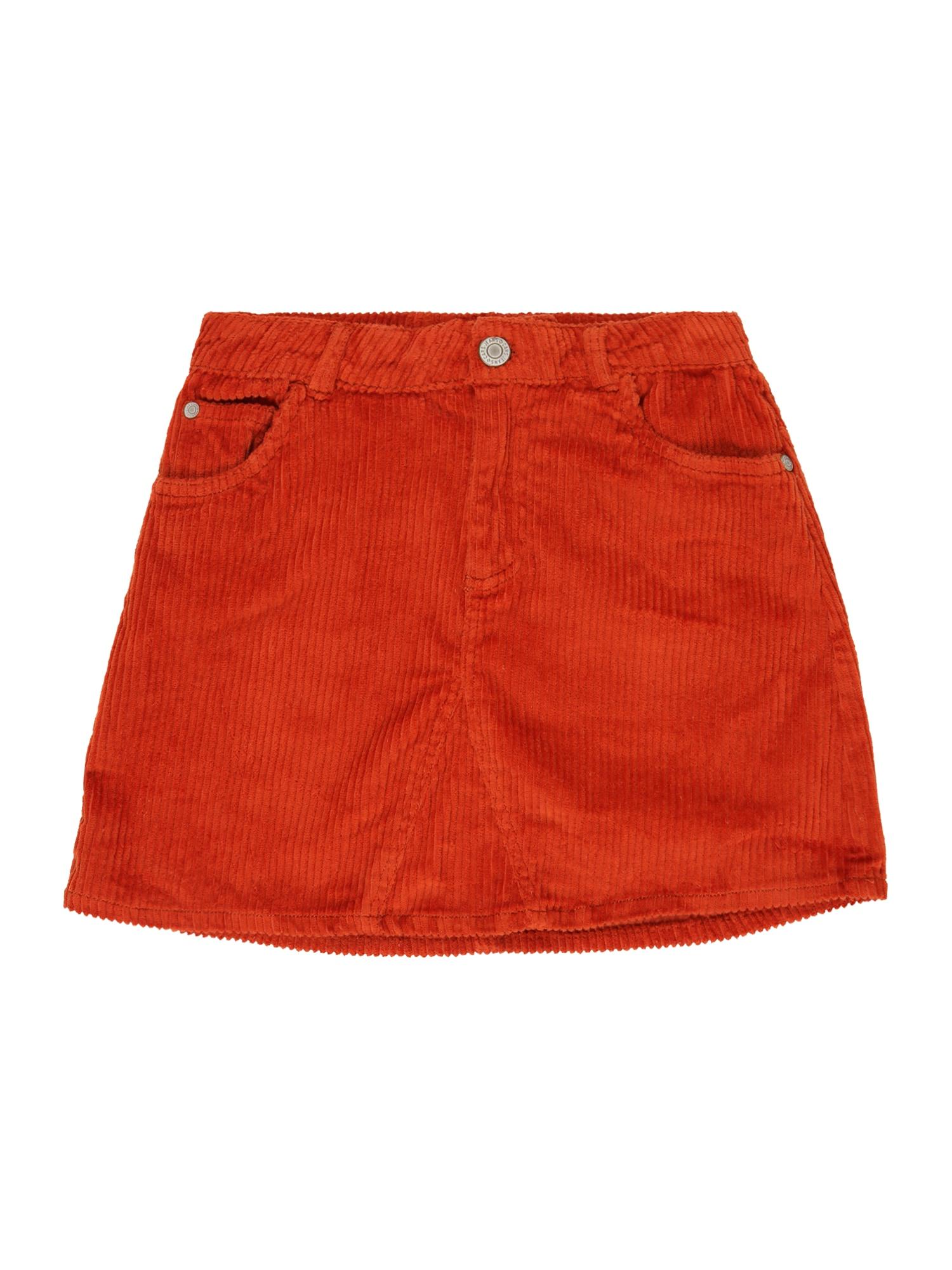Cars Jeans Sijonas 'Marin' oranžinė-raudona