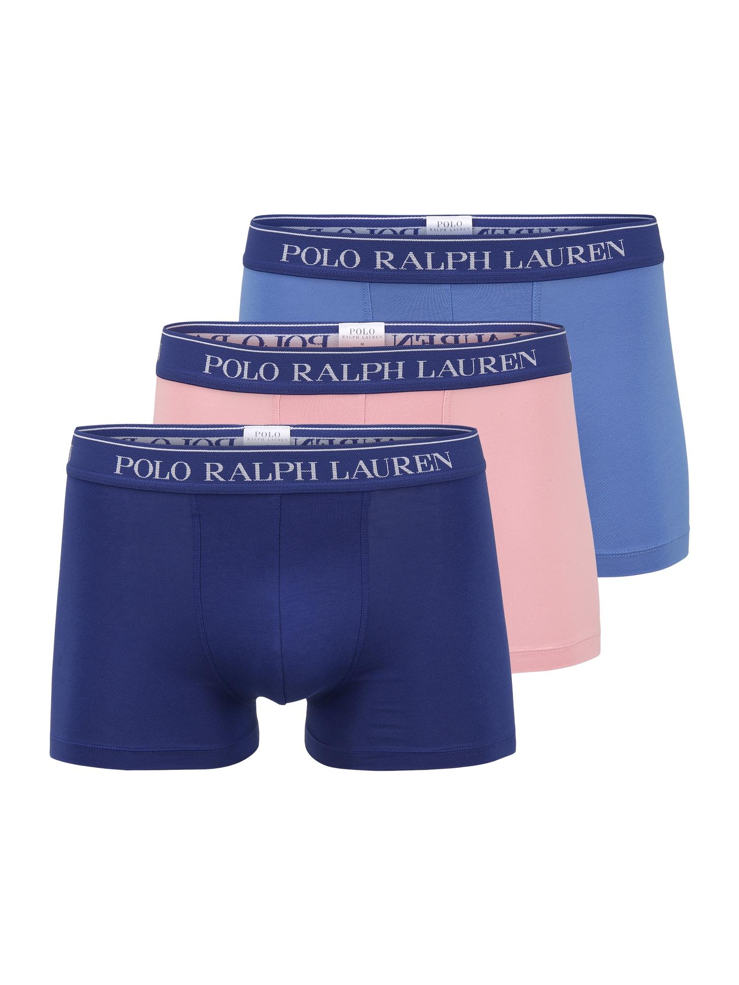 POLO RALPH LAUREN Boxer trumpikės tamsiai mėlyna / mėlyna / ryškiai rožinė spalva