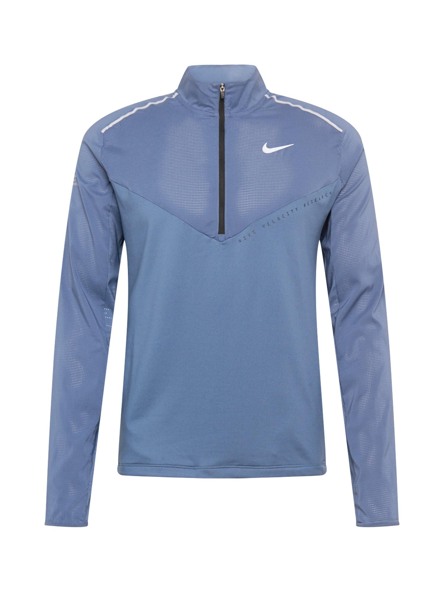 NIKE Sportinio tipo megztinis sidabras / šviesiai mėlyna