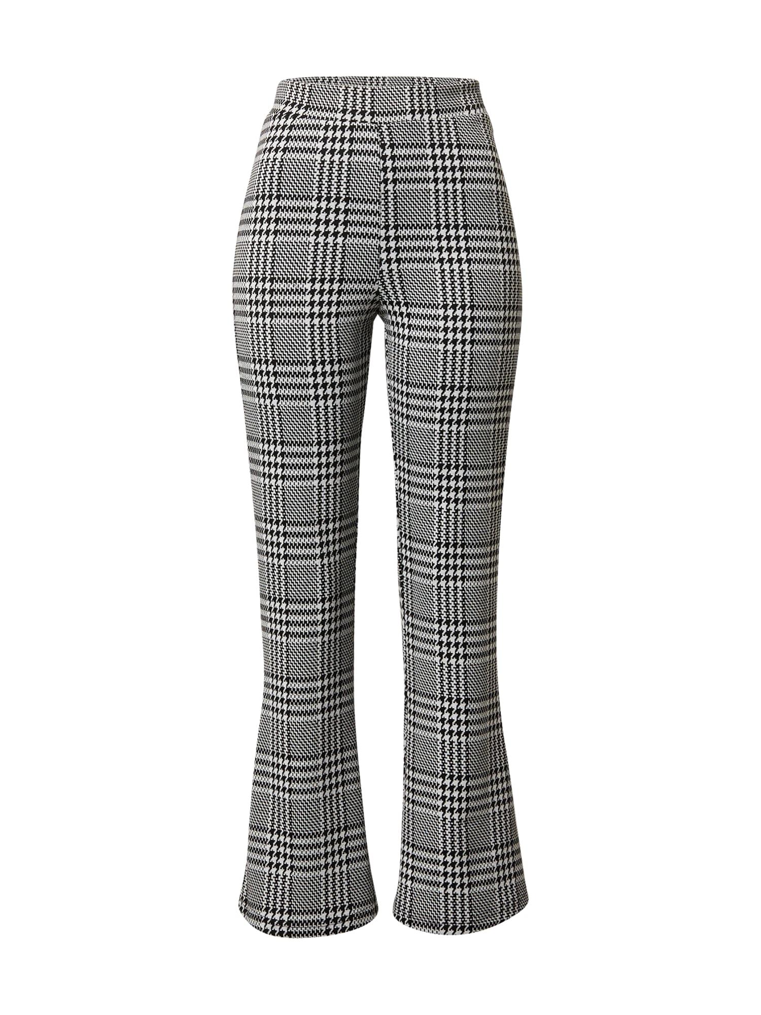 ONLY Kalhoty 'Ziga'  černá / bílá / šedá