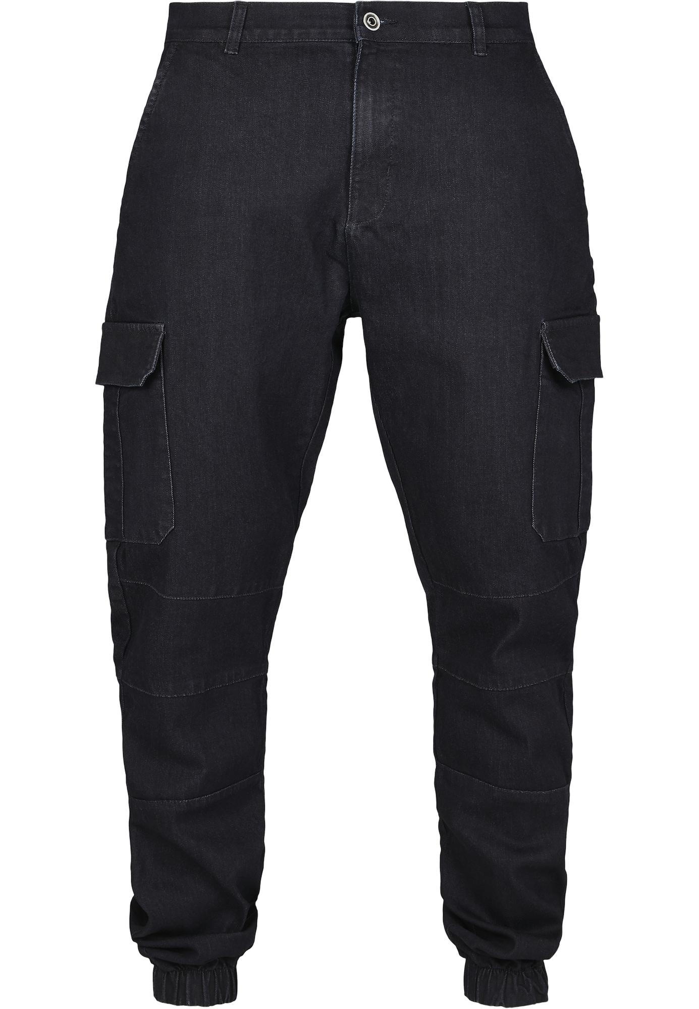Urban Classics Darbinio stiliaus džinsai juodo džinso spalva