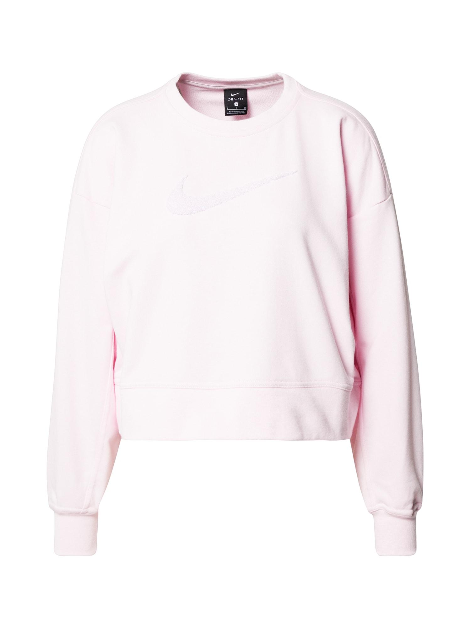 NIKE Sportinio tipo megztinis balta / rožių spalva