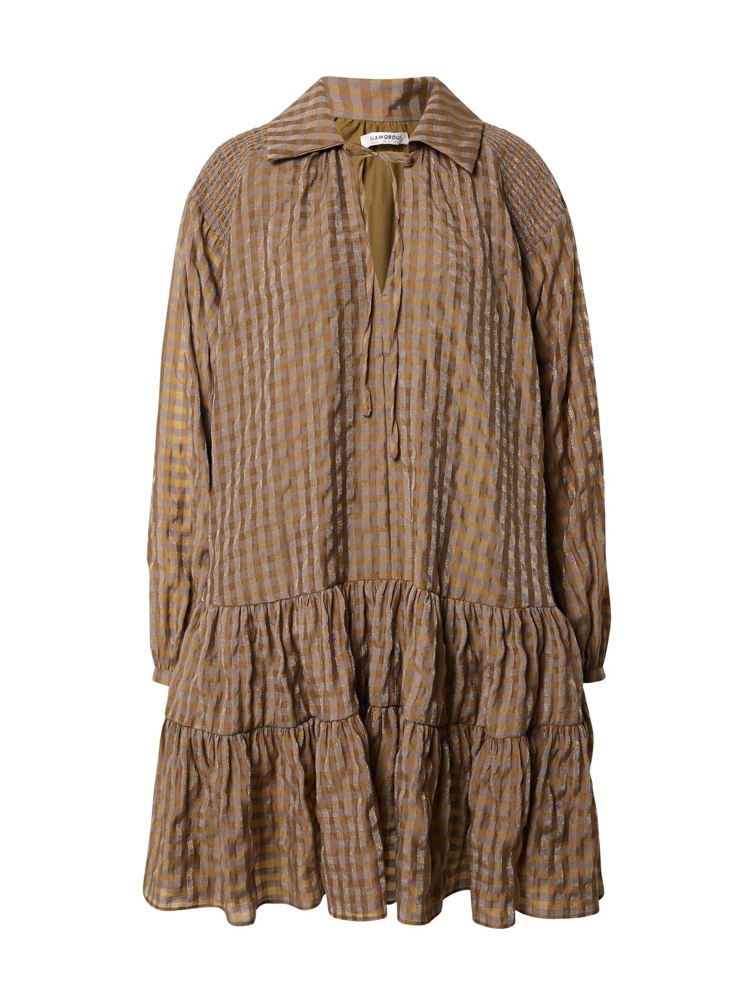 GLAMOROUS Suknelė alyvuogių spalva
