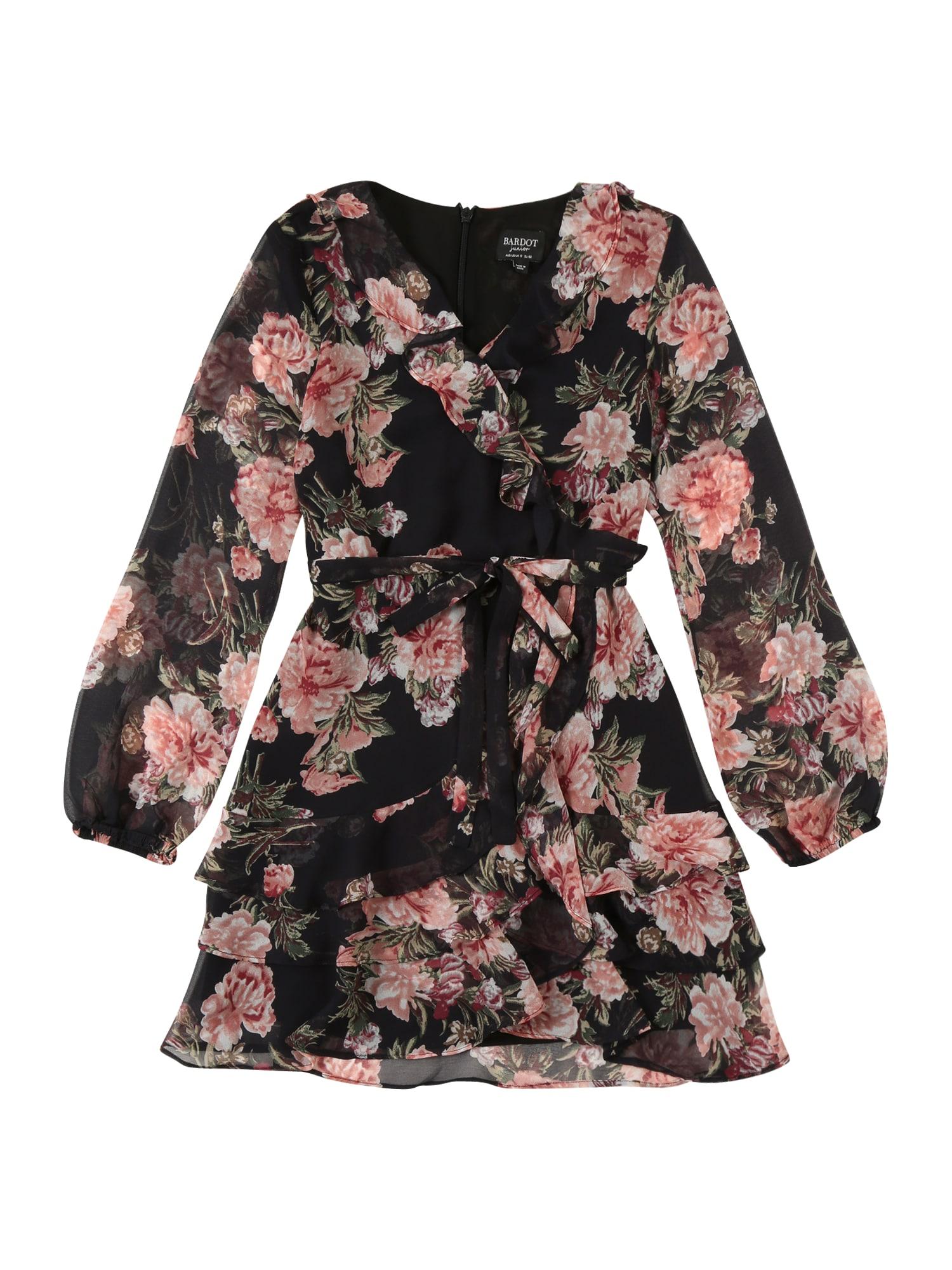 Bardot Junior Suknelė 'CASSIDY' juoda / rožių spalva / tamsiai raudona / žalia