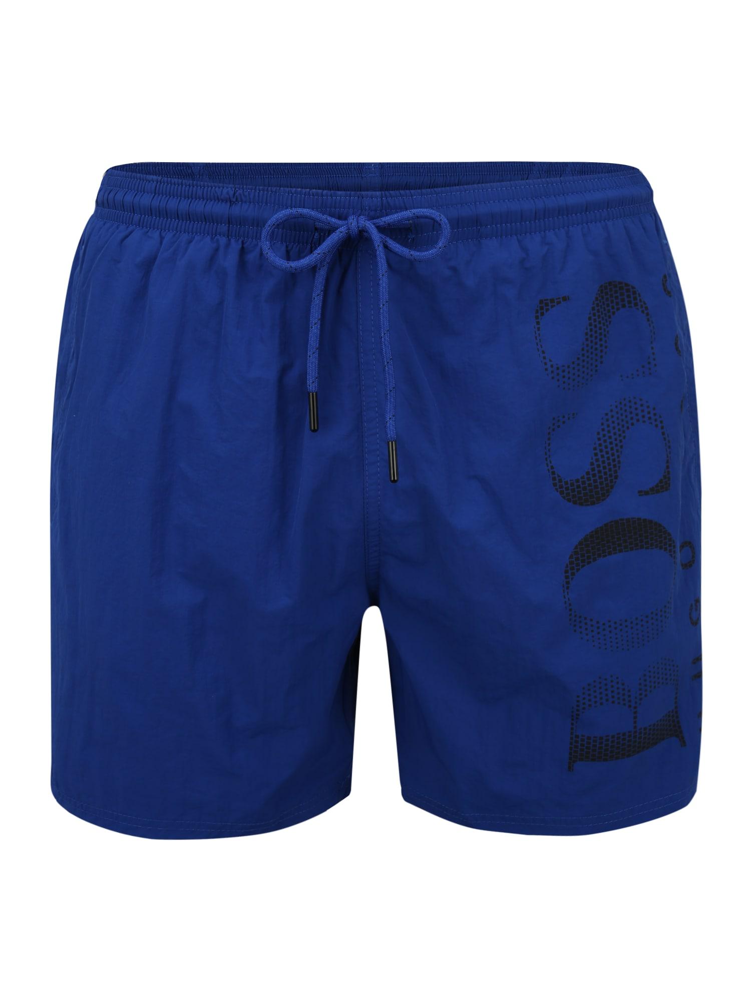 BOSS Casual Plavecké šortky 'Octopus'  kráľovská modrá / čierna
