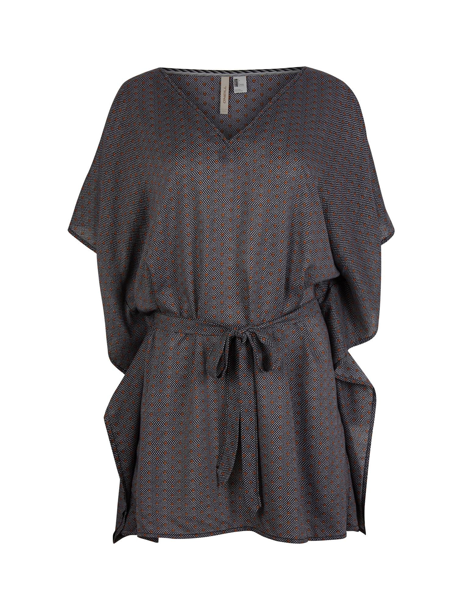 O'NEILL Paplūdimio suknelė 'Beach' juoda / balta / zomšos spalva