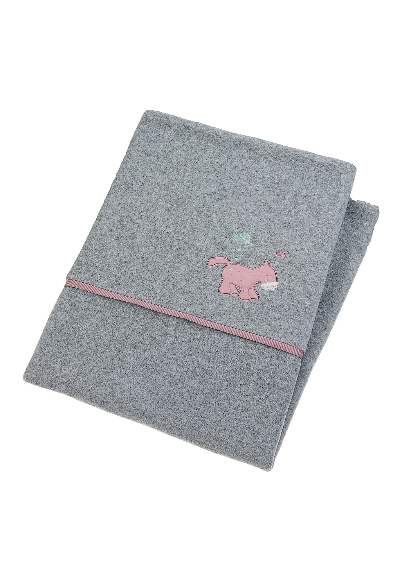 STERNTALER Kūdikio antklodė pilka / ryškiai rožinė spalva