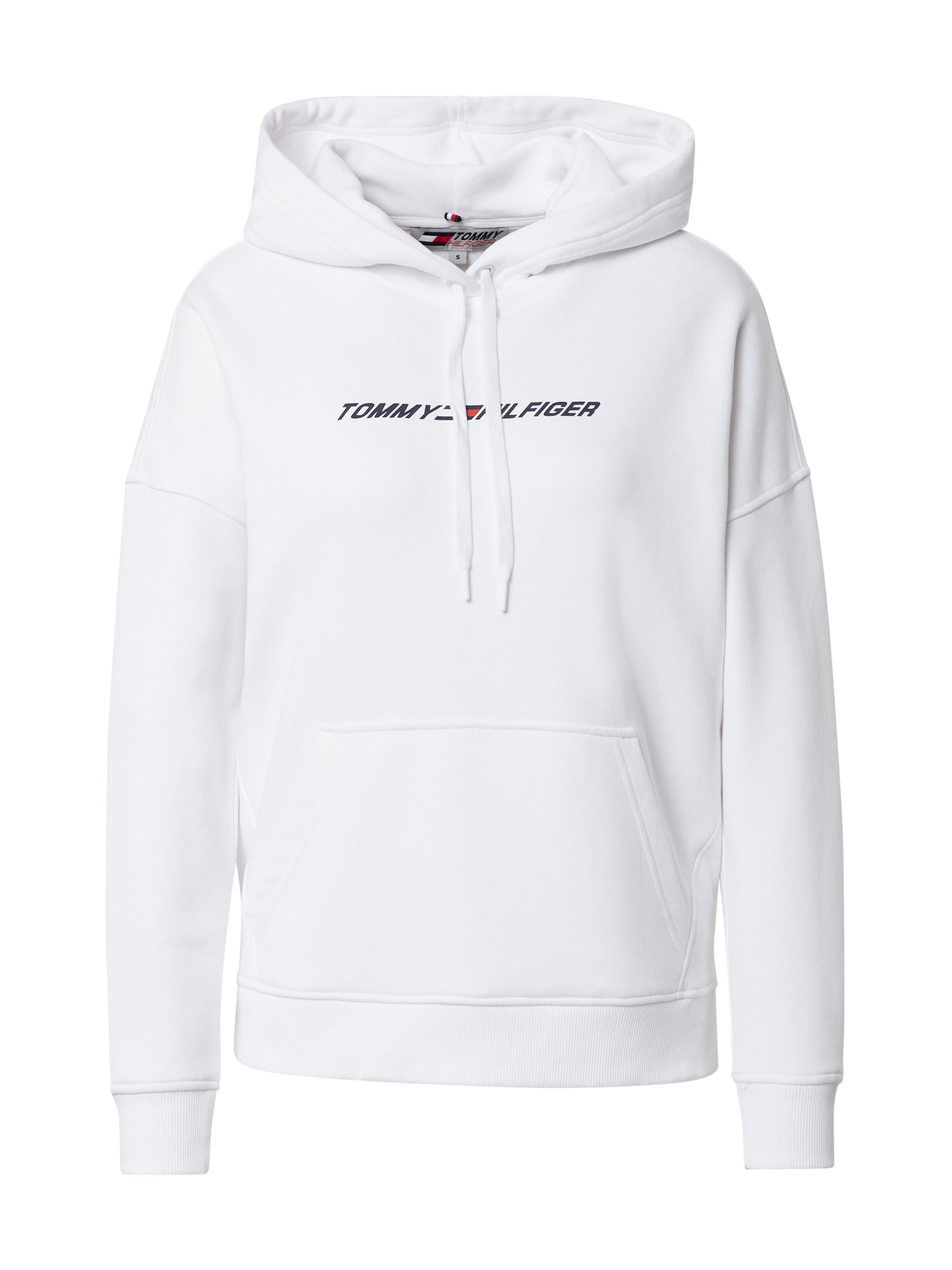 Tommy Sport Sportinio tipo megztinis balta / tamsiai mėlyna / raudona