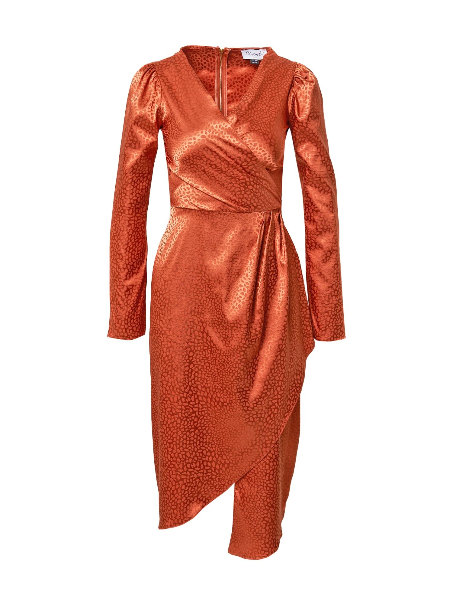 Closet London Kokteilinė suknelė rusva