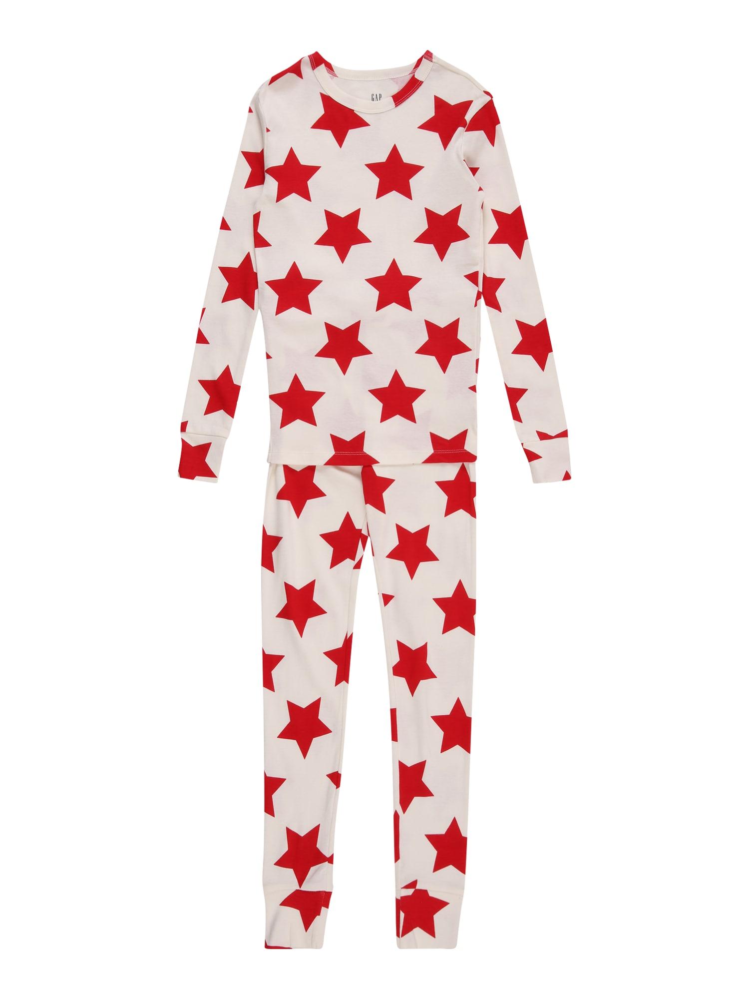 GAP Miego kostiumas balkšva / šviesiai raudona