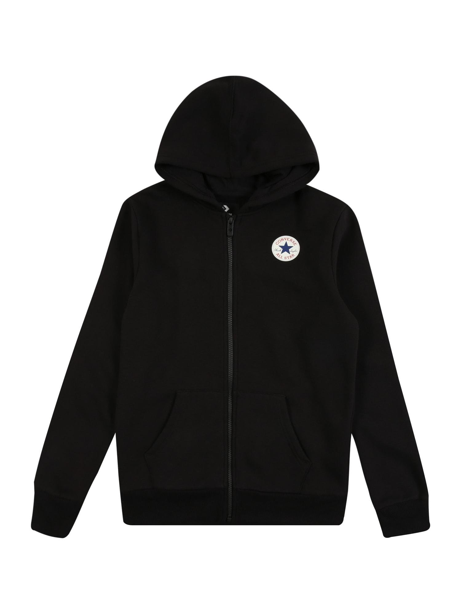 CONVERSE Džemperis juoda / balta / raudona