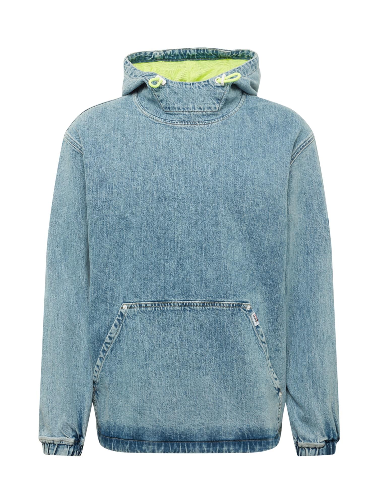 Tommy Jeans Demisezoninė striukė tamsiai (džinso) mėlyna / neoninė geltona