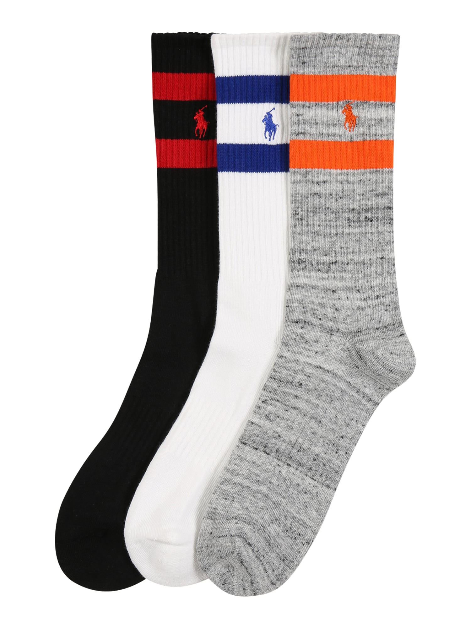 POLO RALPH LAUREN Ponožky  bílá / černá / šedá / oranžová / marine modrá
