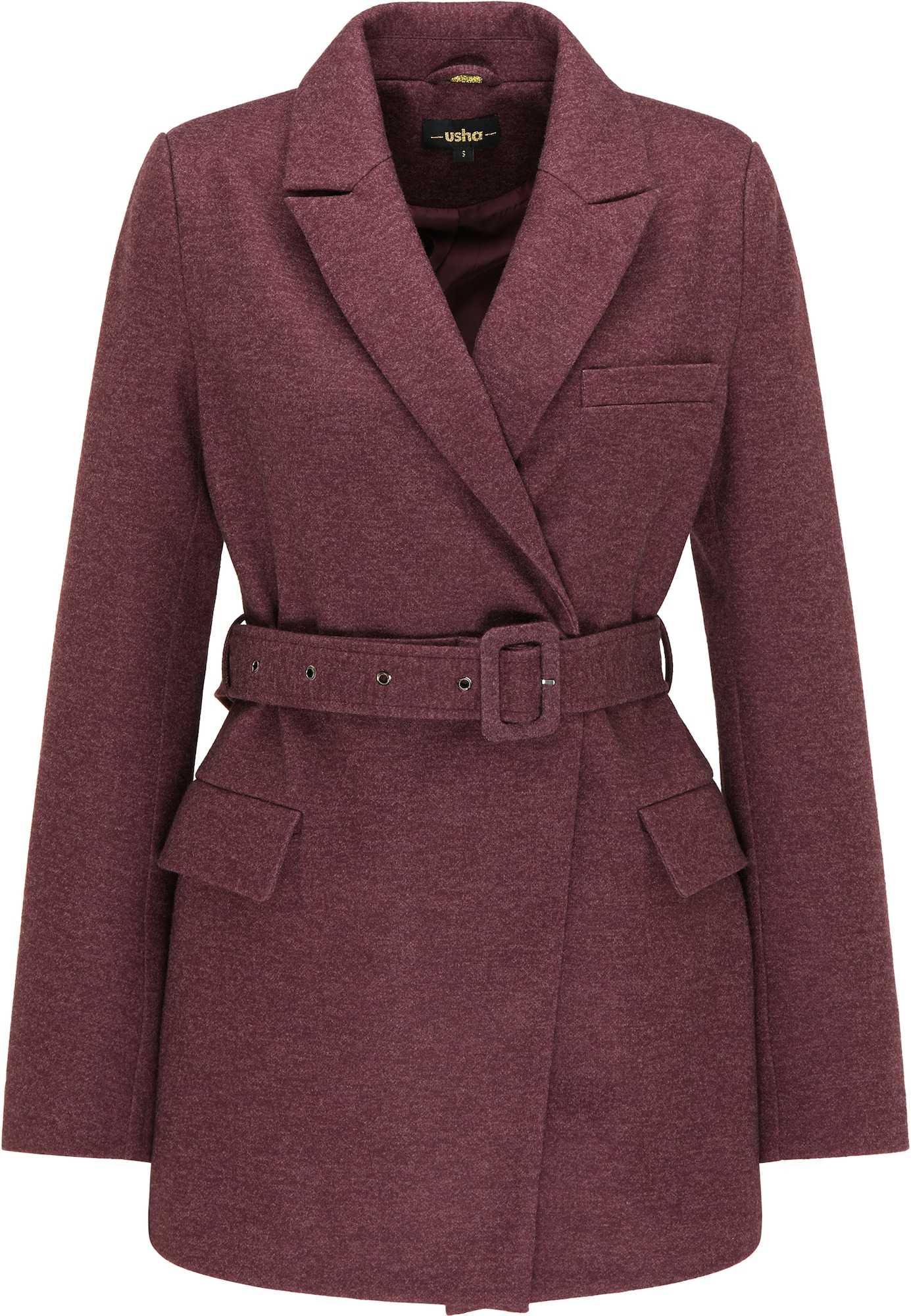 usha BLACK LABEL Demisezoninis paltas purpurinė spalva