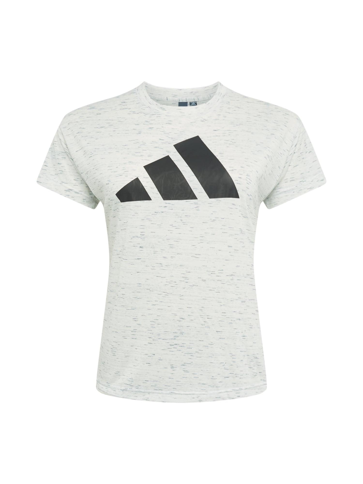 ADIDAS PERFORMANCE Sportiniai marškinėliai margai balta / juoda