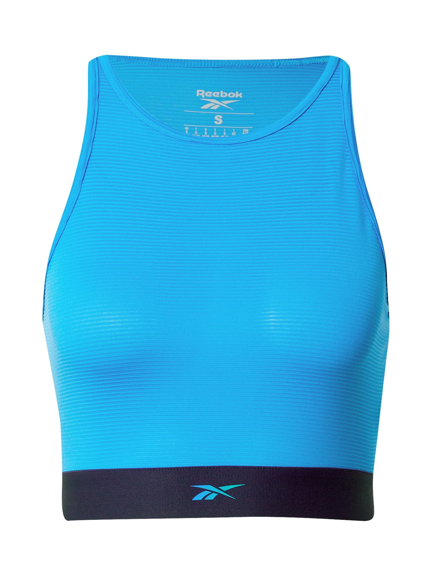 REEBOK Sportovní podprsenka  nebeská modř / marine modrá